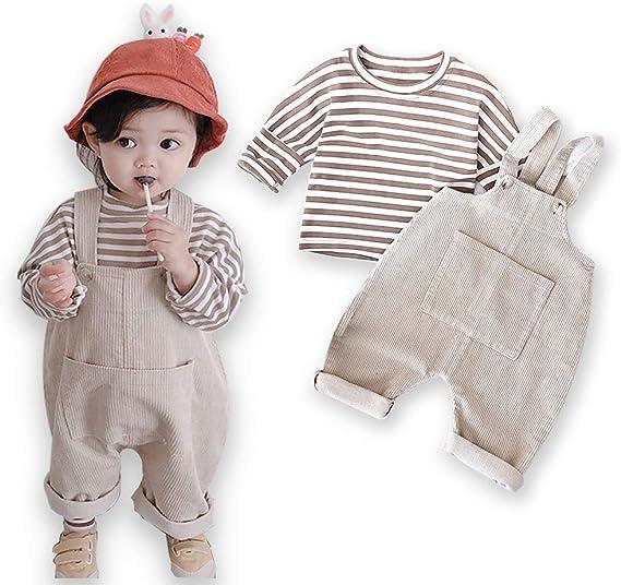 Amazon | LA-Hazel 子供服 女の子 サロペット Tシャツ 2点セット 1-4 ...