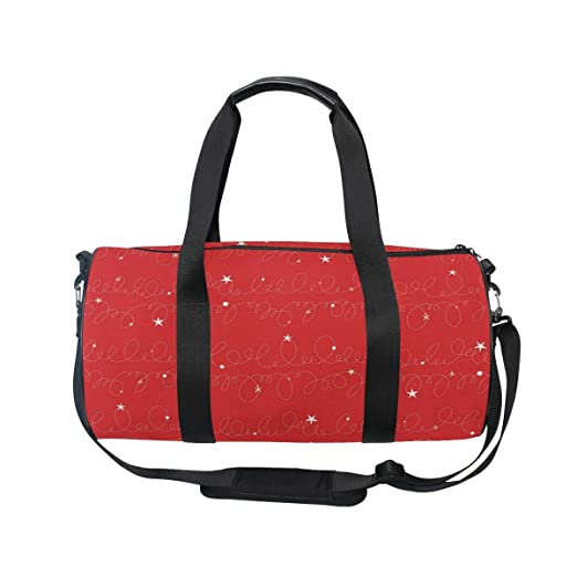 MALPLENA Random Graffiti Line Holiday Background Drum gym duffel bag women Travel Bag