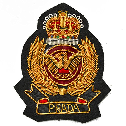 - Gold Bullion Wire Embroidered Badges, Sew-on Applique Patch by 1 pc, 2-3/4