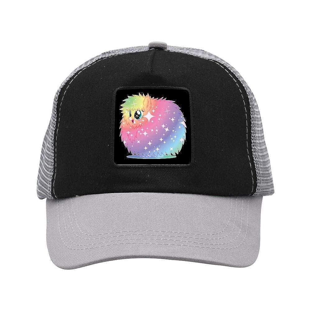 Rainbow Power Fluffle Puff Mesh Caps Adjustable Unisex Snapback Trucker Cap