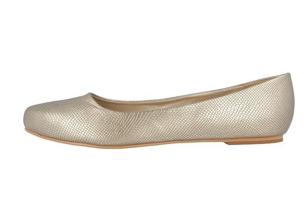 071b7dcd98fa4f Andres Machado Damen Ballerinas Gold Schuhe in Übergrößen Größe45 ...