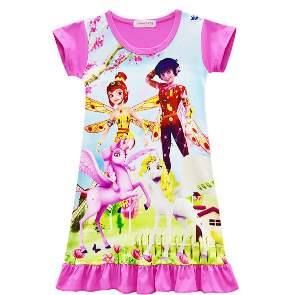 Little Girls Casual Pajamas Dress Baby Fancy Unicorn Sleepwear Costume Dress for Mia Yuko