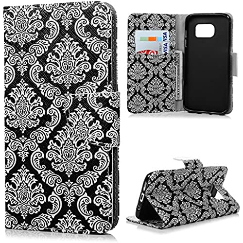 S7 Edge Case,Galaxy S7 Edge Case - Mavis's Diary PU Leather Wallet Kickstand Fashion Folio Flip Magnetic Cover with Card Pocket Soft TPU Inner Case for Sales