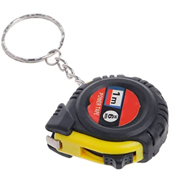 cuigu Retractable Tape Regla, Mini bolsillo cinta métrica Keychain Metric, 1 m