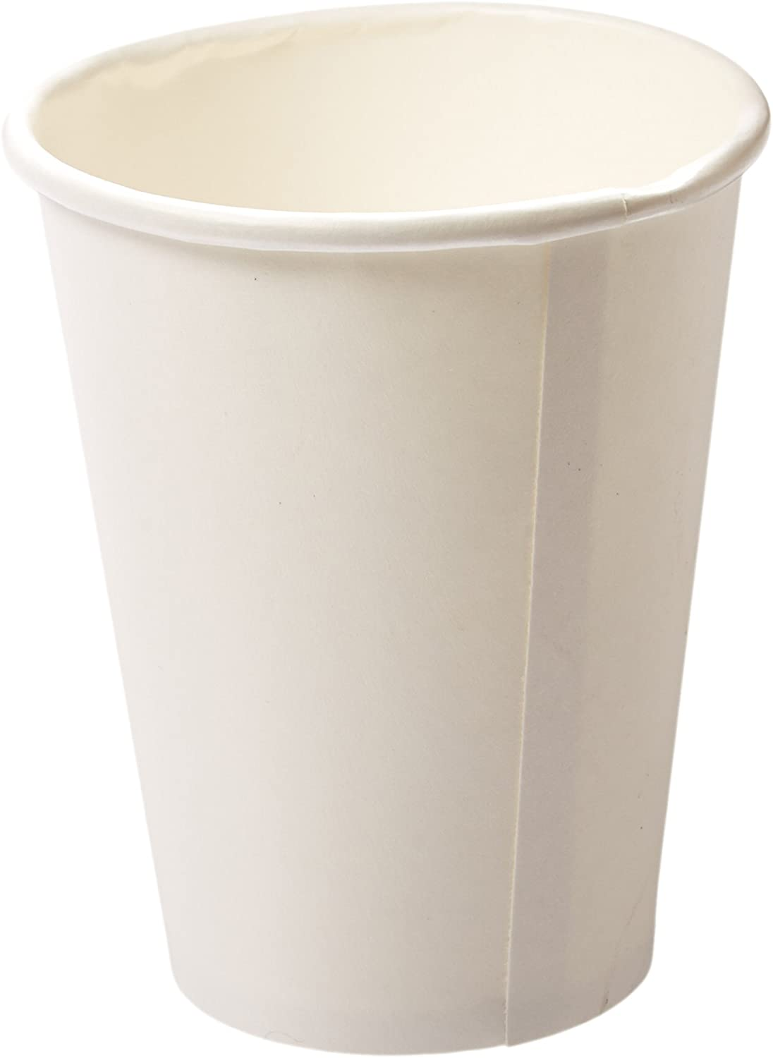 Genuine Joe GJO19047PK Polyurethane-Lined Single-Wall Disposable Hot Cup, 12-Ounce Capacity, White (Pack of 50)