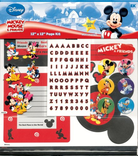 ey and Friends Scrapbook Page Kit (Disney World Scrapbook)