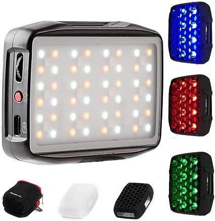 Todo para el streamer: Falcon Eyes F7 Mini Kit RGB Control de aplicación de luz de Video LED con Panal y Brazo mágico para Video/Estudio/Youtube/Vlog Lámpara de Relleno de iluminación para fotografía
