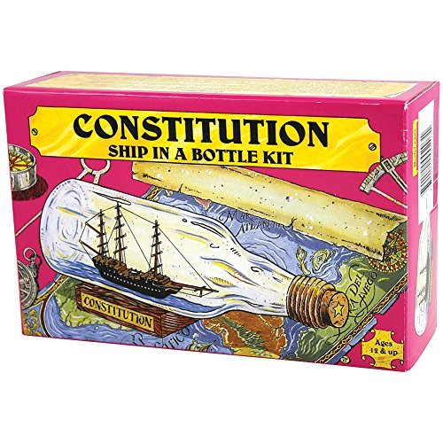 (USS Constitution Ship Build Your Own Boat In A Bottle Model Kit - Made In US)