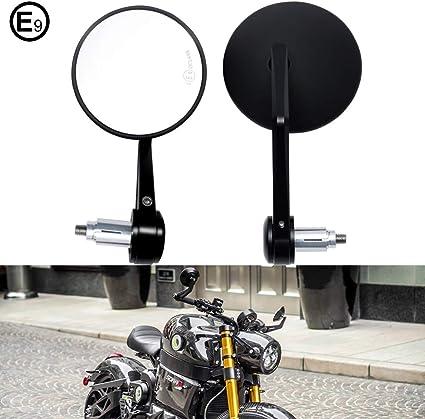 Dreamizer Motorrad Spiegel Rückspiegel Seitenspiegel Rundstangenende Für 7 8 Lenker Passend Für Scooter Street Bike Dirt Bike Scooter Chopper Cruiser Bike Sport Elektroroller Etc Auto