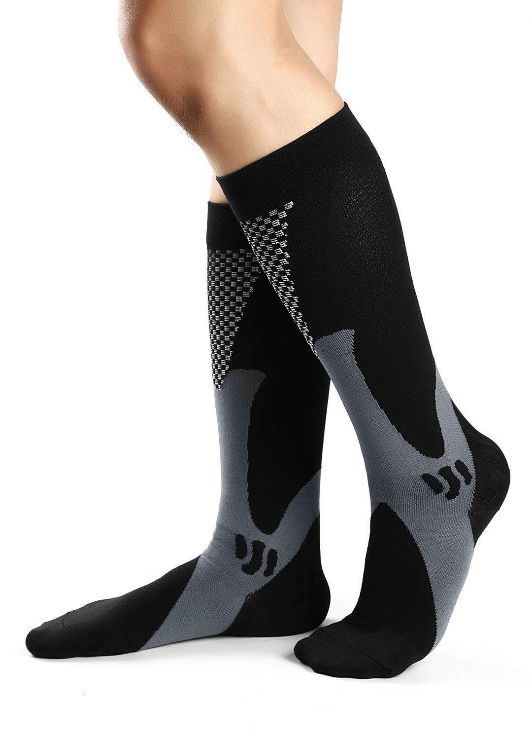 Men Compression Socks Women Medical Grade Graduated Athletic Socks for Nursing, Pregnancy, Sports, 15-25mmHg 3 Pairs