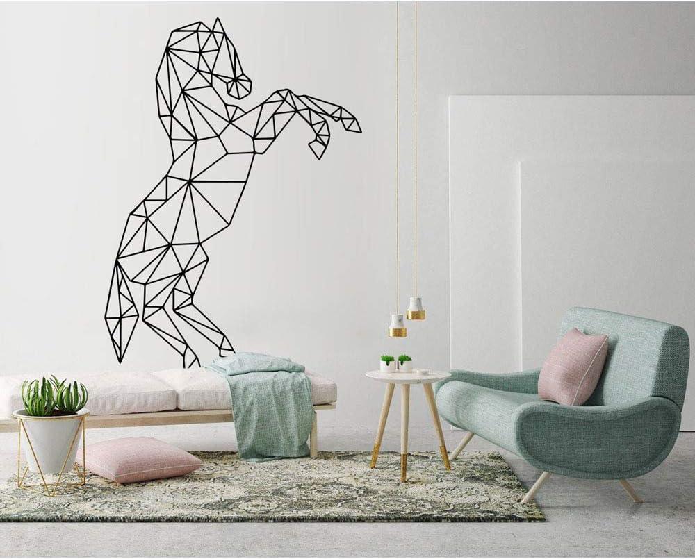 yaonuli Etiqueta de la Pared del Caballo Pegatina geométrica decoración del hogar Sala de Estar Abstracto Vinilo Mural 45X63cm
