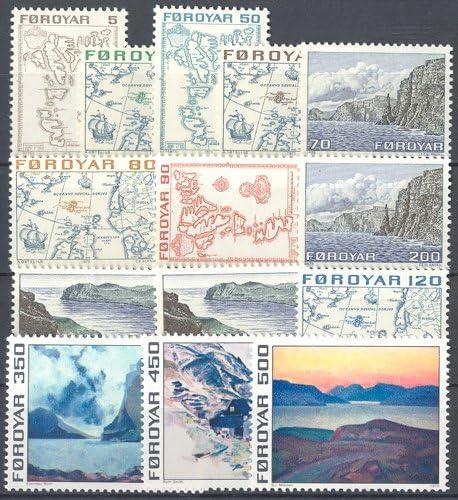 7-20 Briefmarken f/ür Sammler Goldhahn F/är/öer 1975 postfrisch Nr