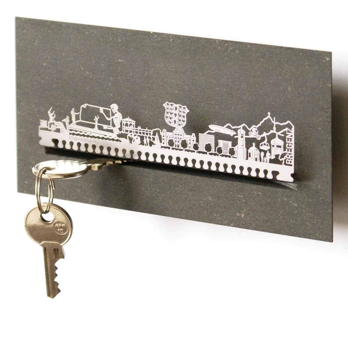 13gramm Bregenz-Skyline Schl/üsselbrett Souvenir in der Geschenk-Box