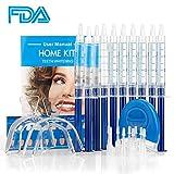 MS.DEAR Dental Equipment Teeth Whitening 44% Peroxide Dental Bleaching System, LED Light Oral Gel Kit Tooth Whitener