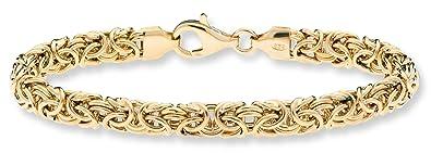 "1c4834542fc151 MiaBella 18K Gold Over Sterling Silver Italian Byzantine Link Chain Bracelet  for Women 7.25""-"
