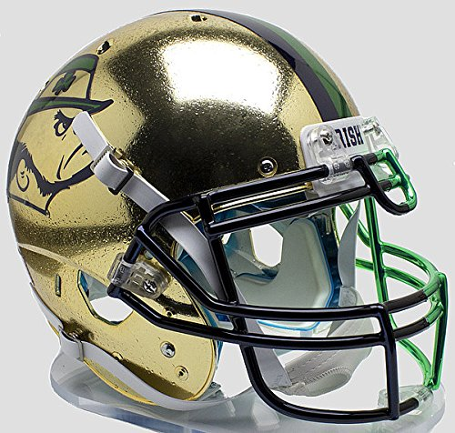 (Schutt Notre Dame Fighting Irish Authentic College XP Football Helmet Textured with Shamrock 2015 Boston - NCAA Licensed - Notre Dame Fighting Irish Collectibles)