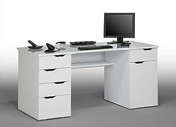 Matelpro bureau informatique design laqué blanc claudelle