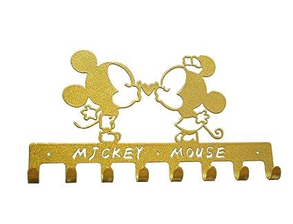 Yourneloqqw Cute Ferronnerie Dessin Animé Personnages Animaux Art Mural Décoratif Porte Manteaux Crochets Mickey Mouse Gold
