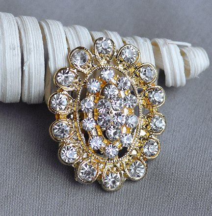 Your Perfect Gifts 40 Pcs Gold Rhinestone Brooches Set Crystal