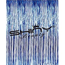 ShiDianYi Royal Blue-3FTX8FT-Foil Fringe-Curtain,Tinsel Door Window Curtain, Party Photo Booth Background for Birthday Party and Bachelorette Party Photo Booth Wall Decoration (Royal Blue)