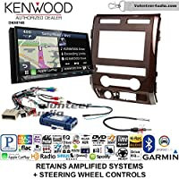 Volunteer Audio Kenwood DNX874S Double Din Radio Install Kit with GPS Navigation Apple CarPlay Android Auto Fits 2009-2010 Ford F-150 (Milano Maple Woodgrain)