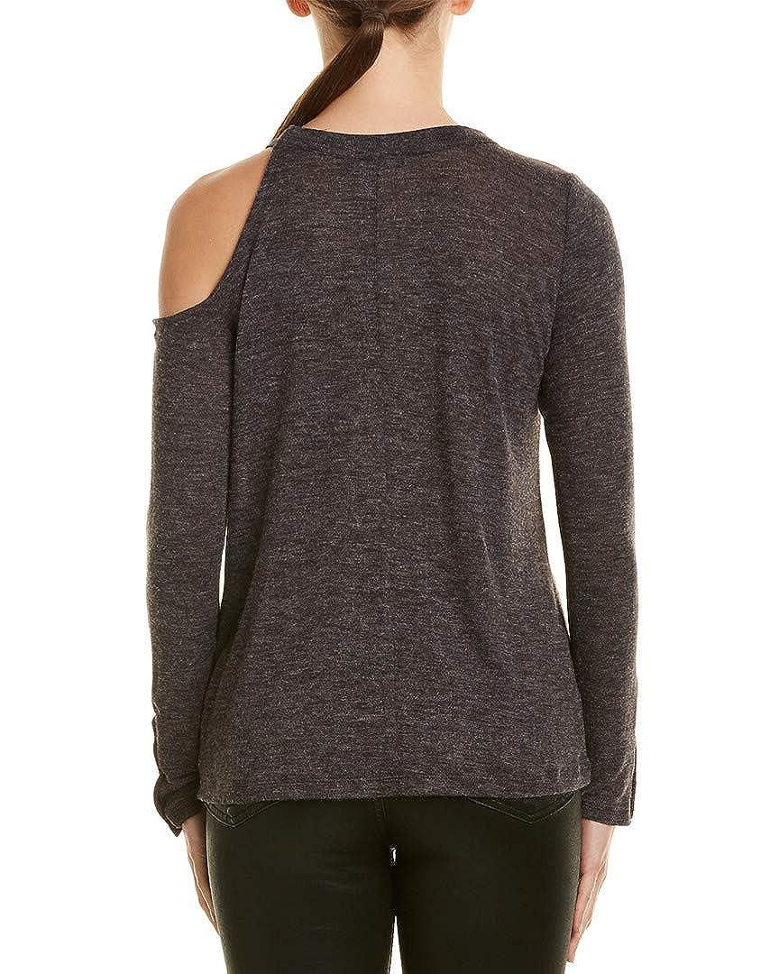 M David Lerner Womens Cold-Shoulder Top Grey