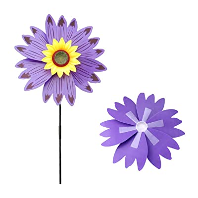 Horoshop 1pc Colorful Sunflower Sunflower Wind Spinner,Children Outdoor Windmill Toy,Color Random: Garden & Outdoor