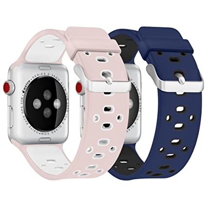 Smart Watch Band 38mm, LOSHE Soft Silicone Replacement Wristband Strap for Apple Watch Series 1, Series 2, Series 3, Nike+, Sport, Edition. 38MM