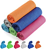 Cooling Towel, Cooling Towels for Neck 6 Pack, Golf Cooling Towel, Instant Cooling Camping Towel Soft Breathab