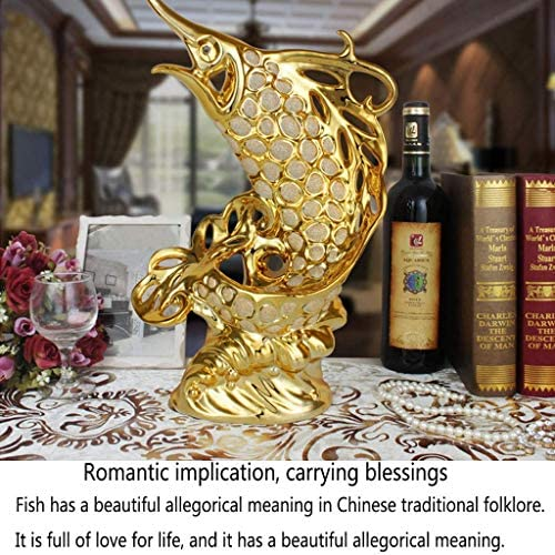 Adornos de Peces de la Suerte Artesanías de cerámica Adornos de Porcelana 4