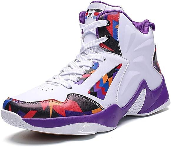 Hombres Baloncesto Zapatos de caña Alta Zapatillas de Entrenamiento Durable Hombre Zapatos Deportivos: Amazon.es: Zapatos y complementos