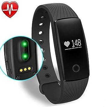 Yamay Dispositivo de seguimiento del ejercicio con pulsómetro, Bluetooth, pulsera Smart, podómetro, seguimiento de actividad, reloj de pulsera, con ...