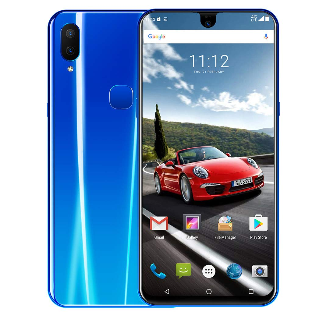 Chinaware X23 6.2 Inch Dual HD Camera Water Drop Screen Smartphone with GPS - Big 3800mAh Battery,New Portrait Mode,Fashion Design - Support Face Unlocking and Fingerprint Unlocking (Blue) by Chinaware (Image #3)