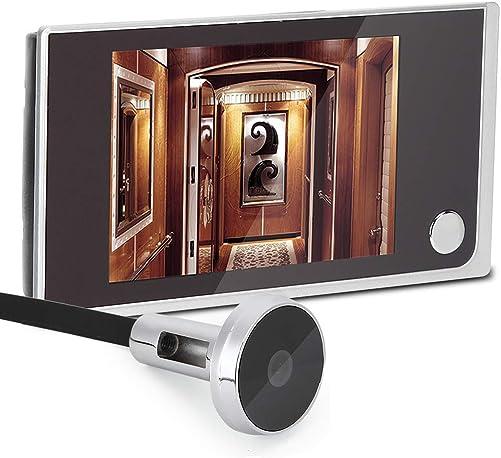 Digital Door Viewer Doorbell,3.5inch LCD Color Screen Door Bell 120 Wide Angle Security Camera Intercom Door Viewer with 2 Mega CMOS Sensor Camera with Metal Bracket for Home Security