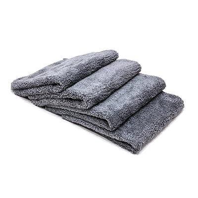 "Autofiber Korean Plush Edgeless Detailing Towels 16\""x16\"" 4-Pack (Grey): Automotive [5Bkhe1403166]"