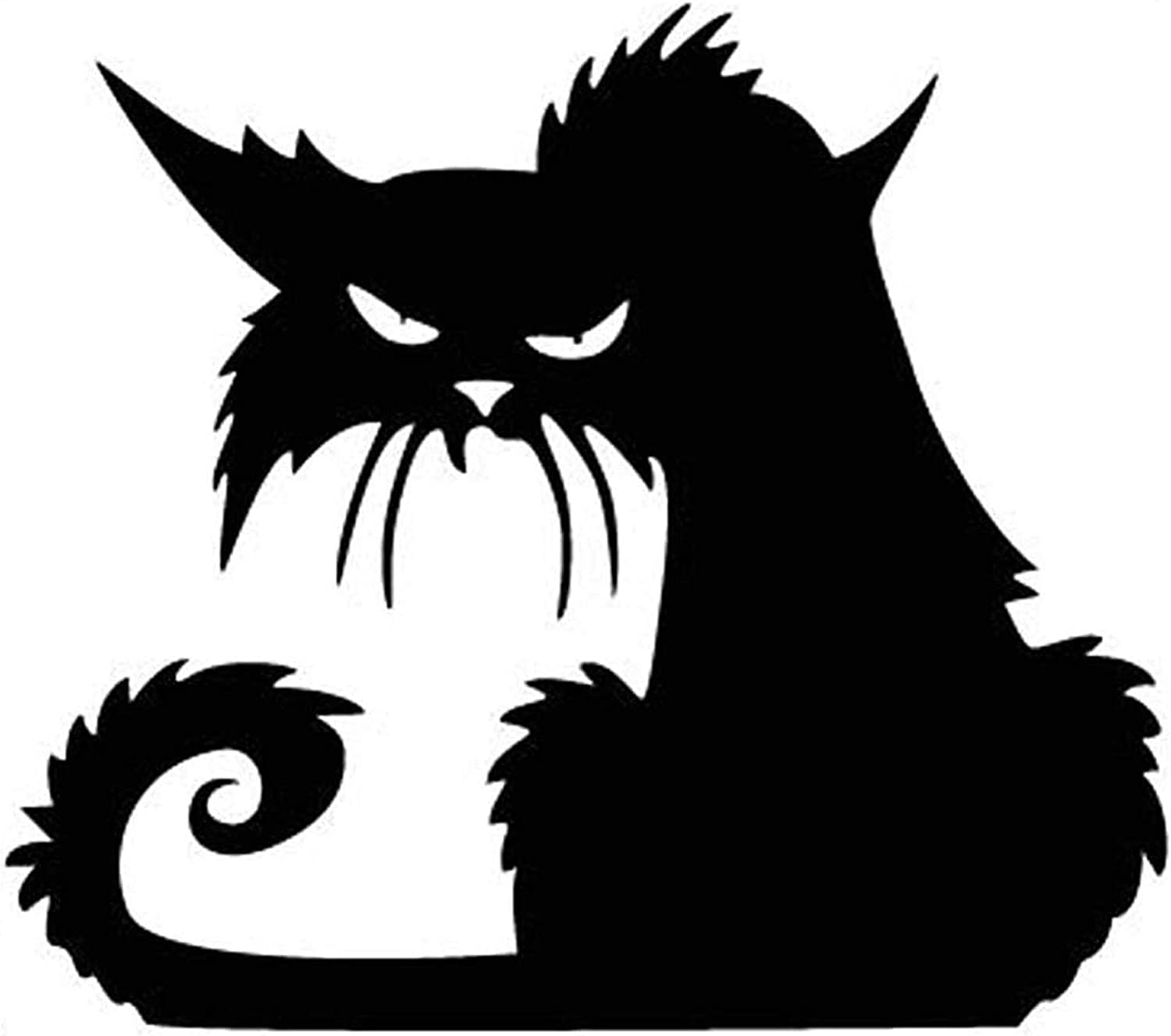 Fashionclubs Vinly Black Cat Removable Window Wall Sticker For Halloween Home Decoration,14.513.5cm