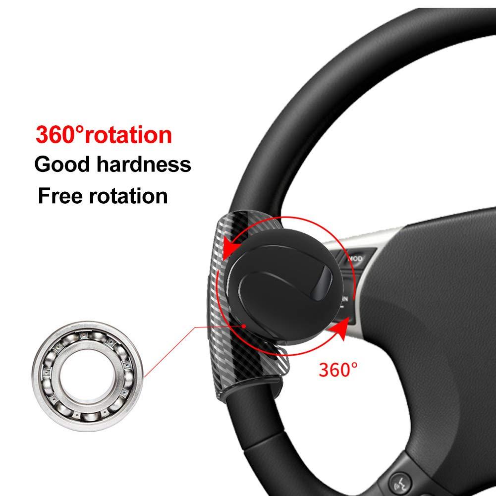 Tractor Barco. Volante Giratorio de 360/° para Coche con pomo de Bola para Interior de cami/ón Remolque SUV INFILM