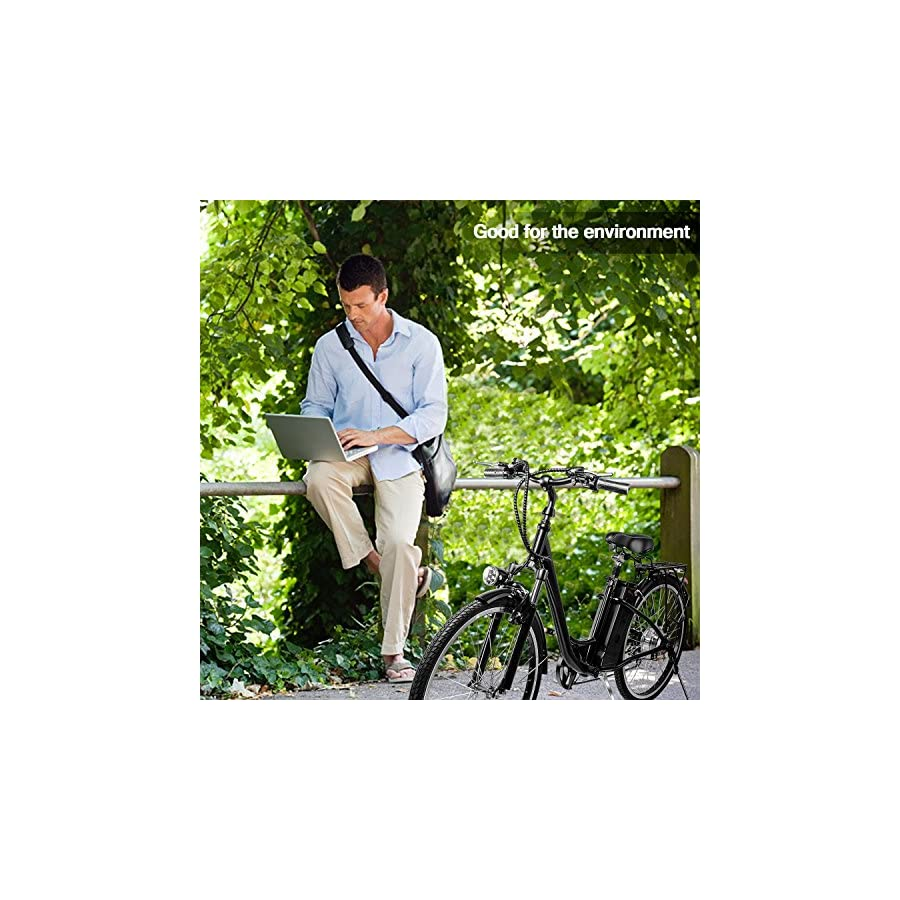 """VEEKO 26"""" City Electric Bicycle Ebike with 36V 10Ah Lithium Battery"""
