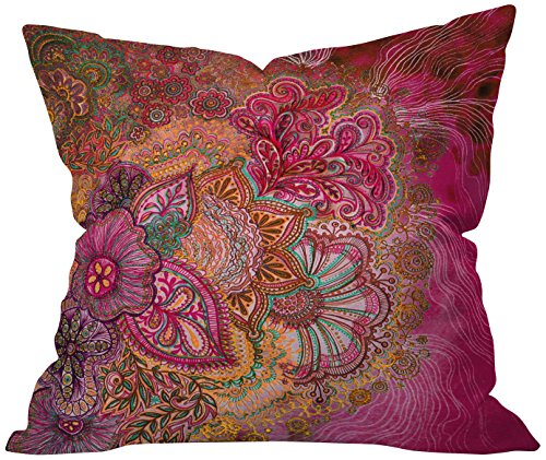 Deny Designs Stephanie Corfee Flourish Berry Throw Pillow