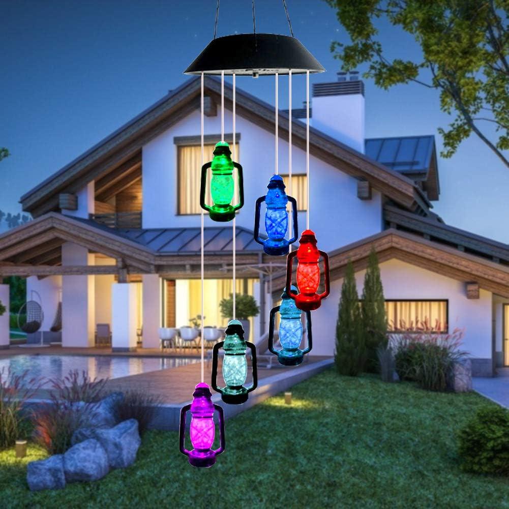 Farbwechsel Lichterkette Au/ßen Dekoration Lichter LED Solar Solarlicht Windspiele licht,/Überraschungsgeschenk f/ür Freundinnen M/ütter Tochter starnearby Solarbetriebenes LED-Windspiel