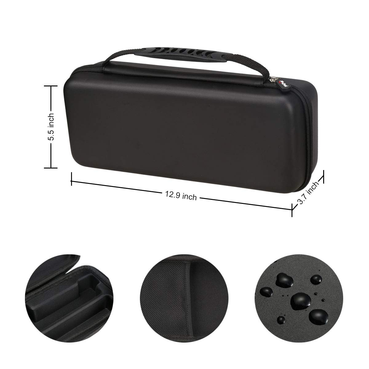 Mchoi Hard Portable Case for NOCO Boost Plus GB40 Jump Starter Black