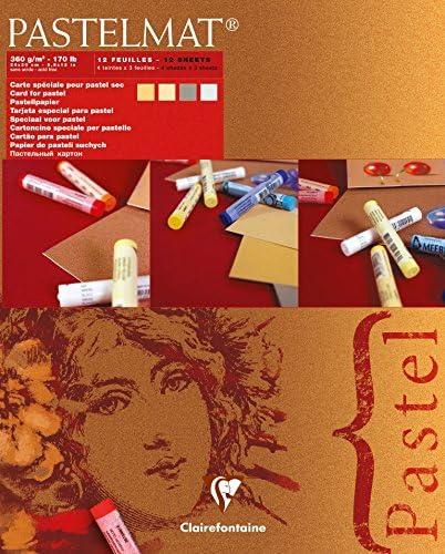 ref 1 - 96018C 30 X 40cm Clairefontaine pastelmat-Tarjeta Pastel Pad 360g