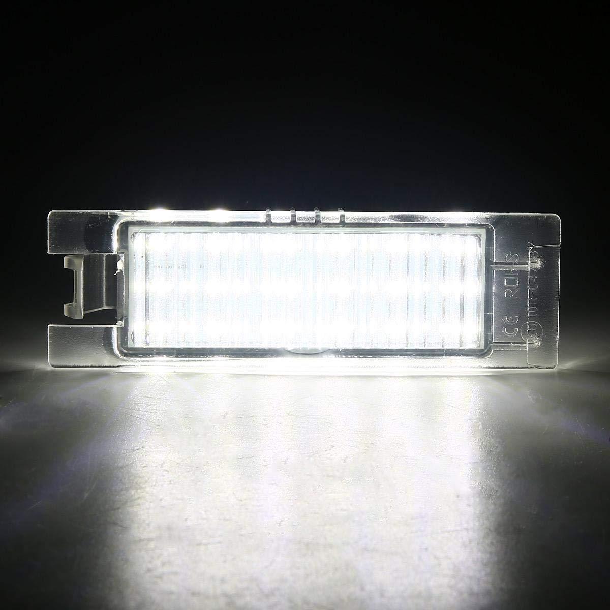 LED License Plate Lamp White Light For Opel Zafira B Astra H Corsa D Insignia