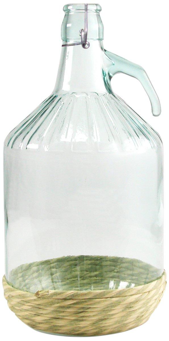 Home Damajuana con tapón mecánico, 5 litros, de Cristal, Transparente/Beige, 18 x 18 x 35 cm: Amazon.es: Hogar