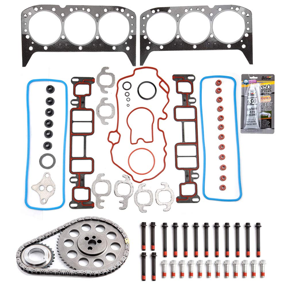 BCtimingparts Timing Chain Kit With Cover Gasket Bolts Set fits for 1999-2005 Chevrolet Astro GMC 4.3L