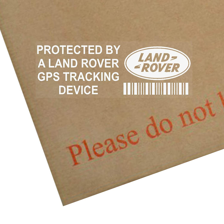 5 x pplandrovergps GPS-Tracking Gerä t Sicherheit Fenster Aufkleber 87 x 30 mm-car, Van Alarm Tracker Platinum Place