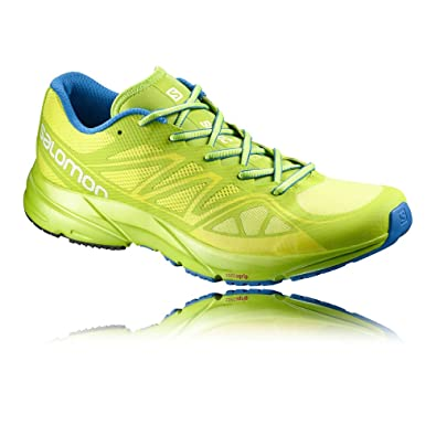 227599b4d1d4 Salomon Men s Sonic Aero Running Shoes Gecko Green Granny Green Union Blue  14