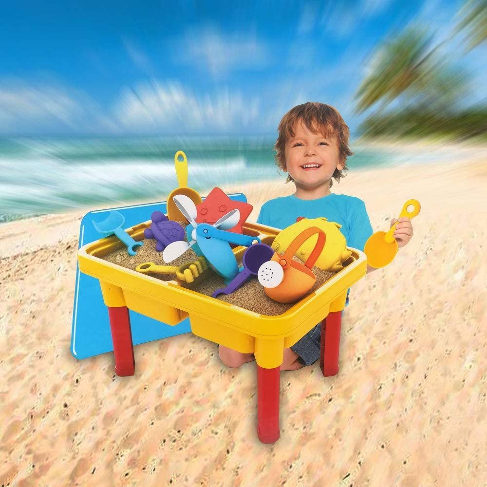 Children Educational Toy SOWOW Sand and Water Table with 15 PCS Sandbox Toys for Toddlers