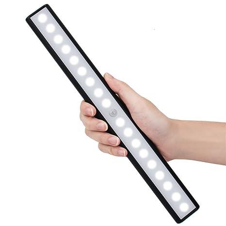 glantop-dt PIR Sensor de movimiento armario LED lámpara bar USB Batería armario barra de