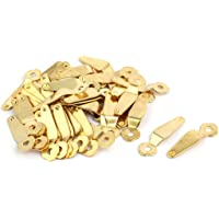 uxcell 50pcs 40mmx12mmx1mm Picture Frame Turn Button Photo Turnbutton Gold Tone w Screw